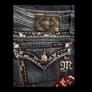 Miss Me Jeans size 34 Boot Cut 28 in Length